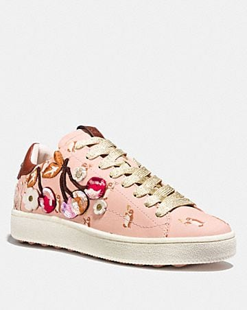 Sneakers - Low Top Sneaker Crystal Bow Patch White/Pale Blush - white - Sneakers for ladies Coach Best Sale Cheap Price New Arrival Sale Online Discount For Cheap Nicekicks Sale Online Clearance Cheap Online BmqGK1x