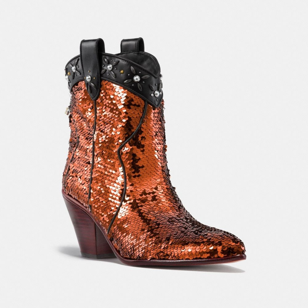 WESTERN BOOTIE WITH SEQUINS