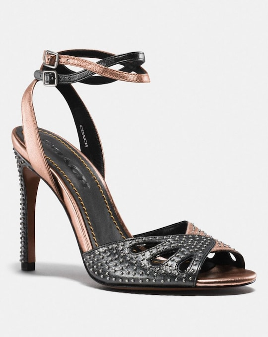 HEEL SANDAL WITH PRAIRIE RIVETS