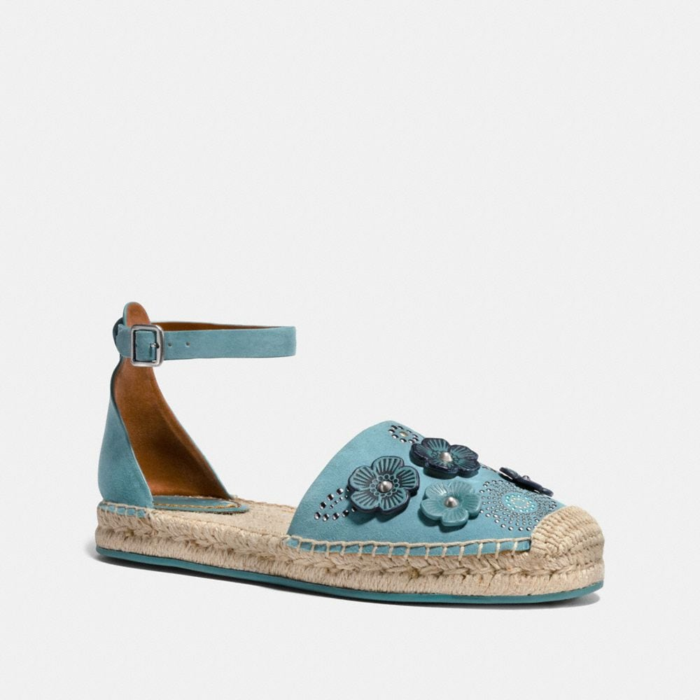 ANKLE STRAP ASTOR ESPADRILLE WITH TEA ROSE RIVETS