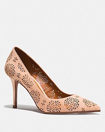 WAVERLY PUMP WITH CUT OUT TEA ROSE