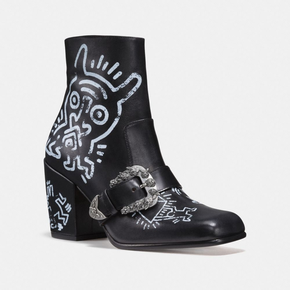 COACH X KEITH HARING WESTERN MOTO BOOTIE
