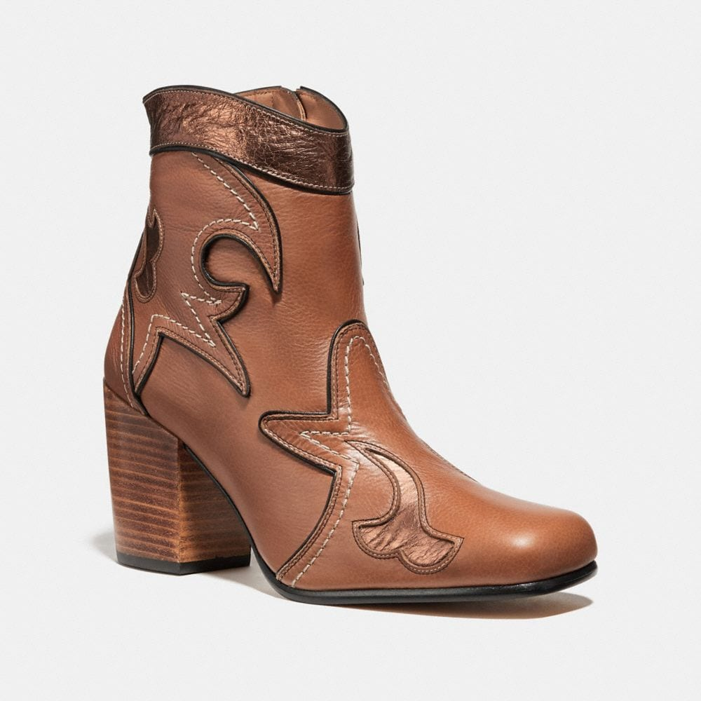 WESTERN BOOTIE WITH BURNISH
