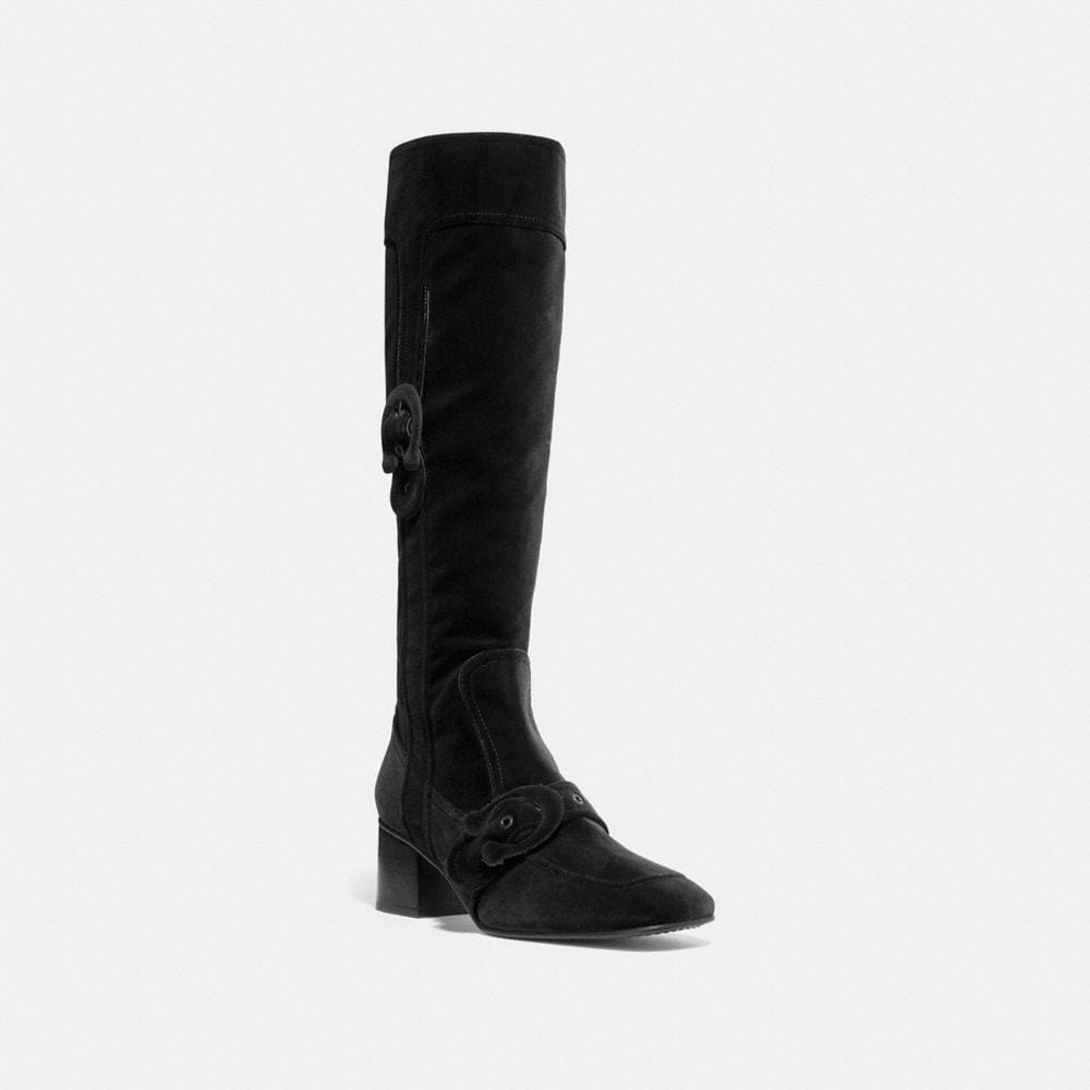 KNEE HIGH SIGNATURE BUCKLE BOOT