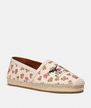 CASEY ESPADRILLE WITH MINI VINTAGE ROSE PRINT