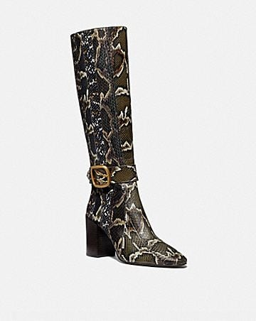 EVELYN BOOT IN SNAKESKIN