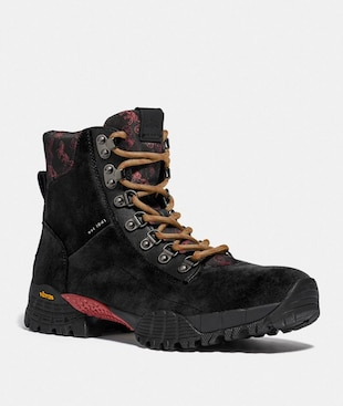 HYBRID URBAN HIKER BOOT WITH HORSE AND CARRIAGE PRINT