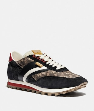 C180 LOW TOP SNEAKER WITH HORSE AND CARRIAGE PRINT