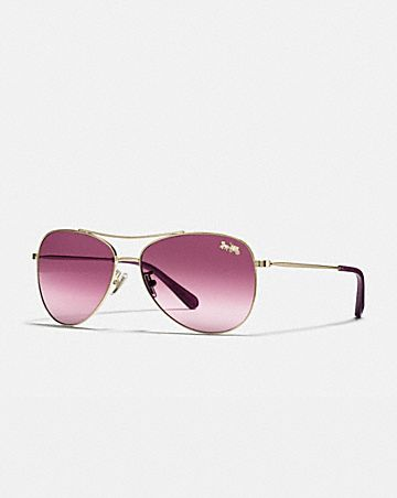 THIN METAL PILOT SUNGLASSES