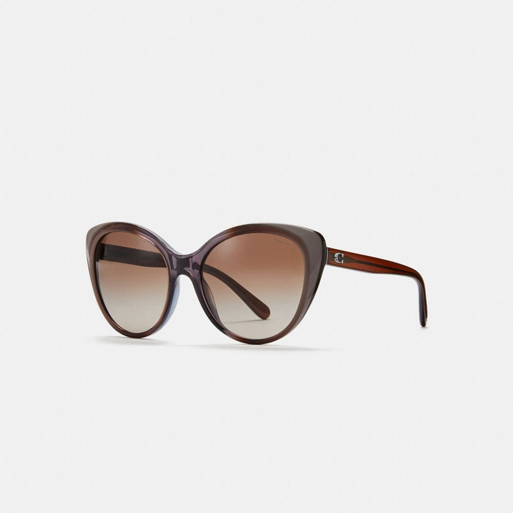 BEVELED EDGE CAT EYE SUNGLASSES
