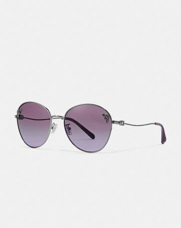 TEA ROSE OVAL SUNGLASSES