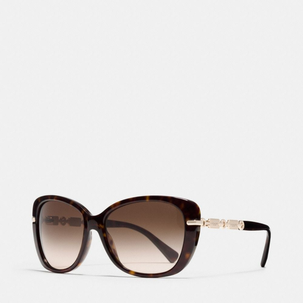 HANGTAG CHAIN CAT-EYE SUNGLASSES