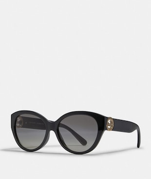 OVERSIZED METAL CAT EYE SUNGLASSES
