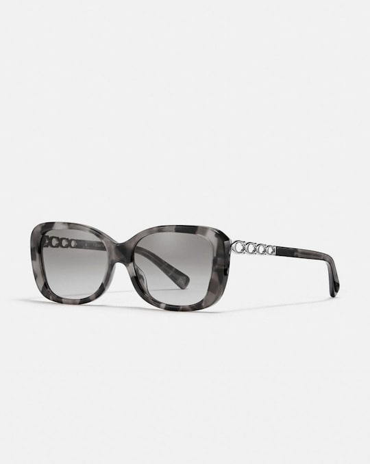 SIGNATURE CHAIN RECTANGLE SUNGLASSES