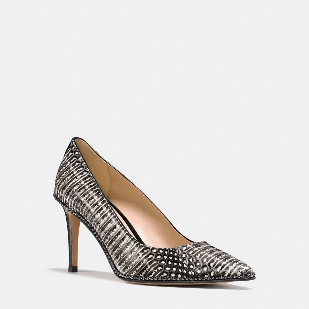 SMITH BEADCHAIN HEEL IN SNAKESKIN