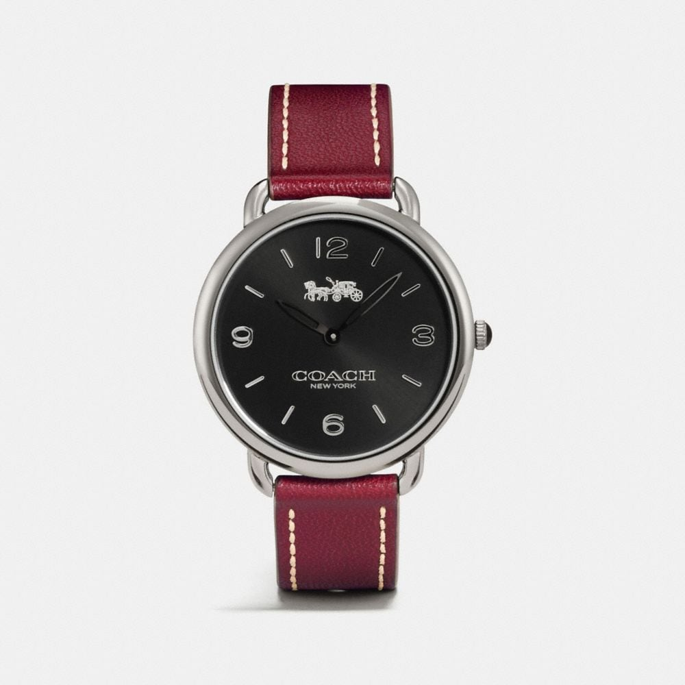 DELANCEY SLIM LEATHER STRAP WATCH