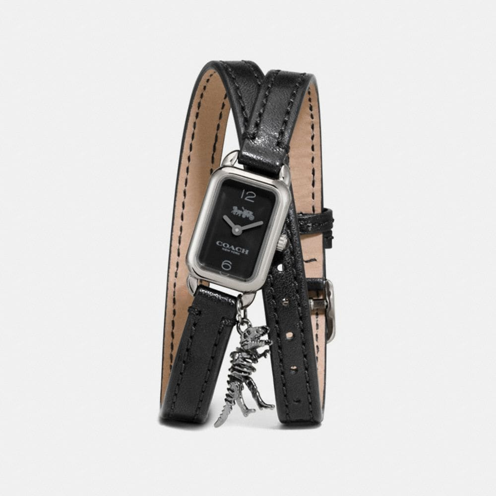 LUDLOW DOUBLE WRAP WATCH WITH CHARM, 17MM X 24MM