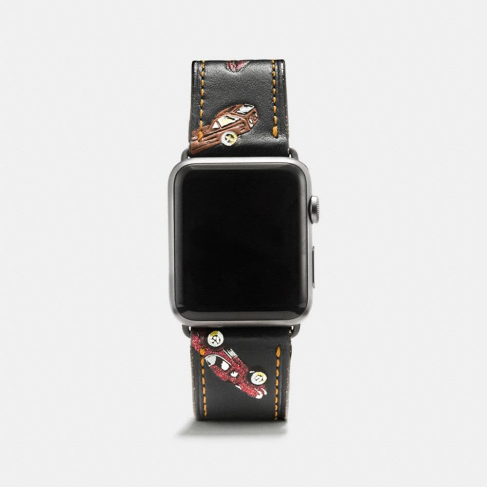 CORREA DE PIEL ESTAMPADA PARA APPLE WATCH®