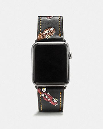 CINTURINO APPLE WATCH® IN PELLE STAMPATA