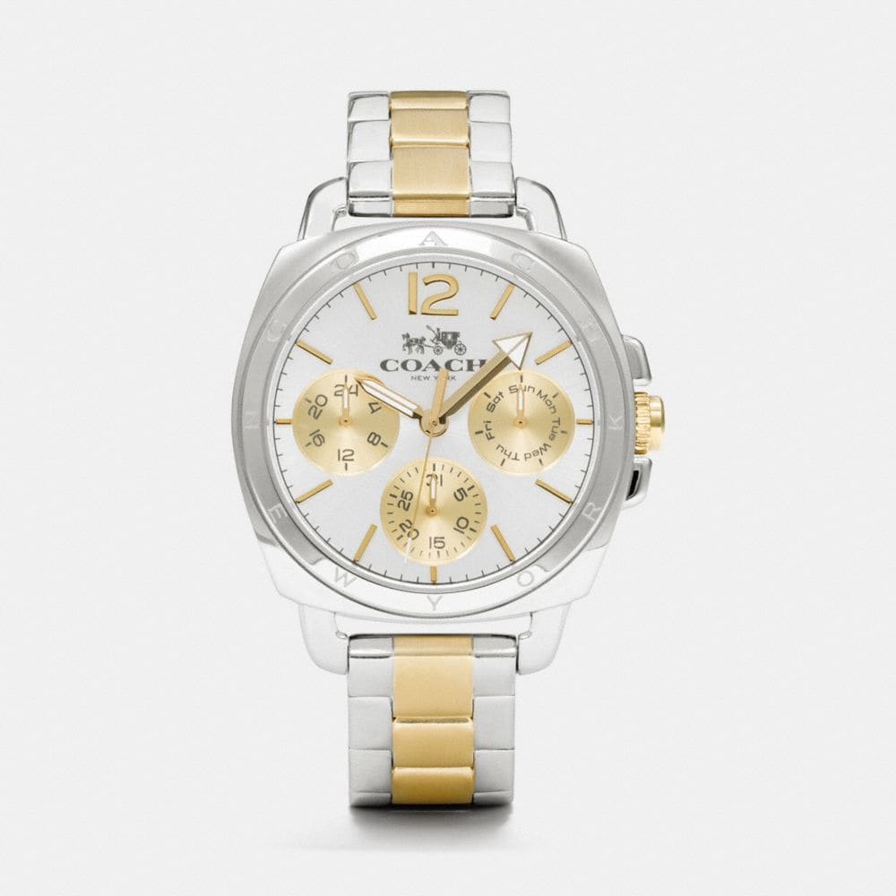 BOYFRIEND 38MM TWO-TONE MULTIFUNCTION BRACELET WATCH