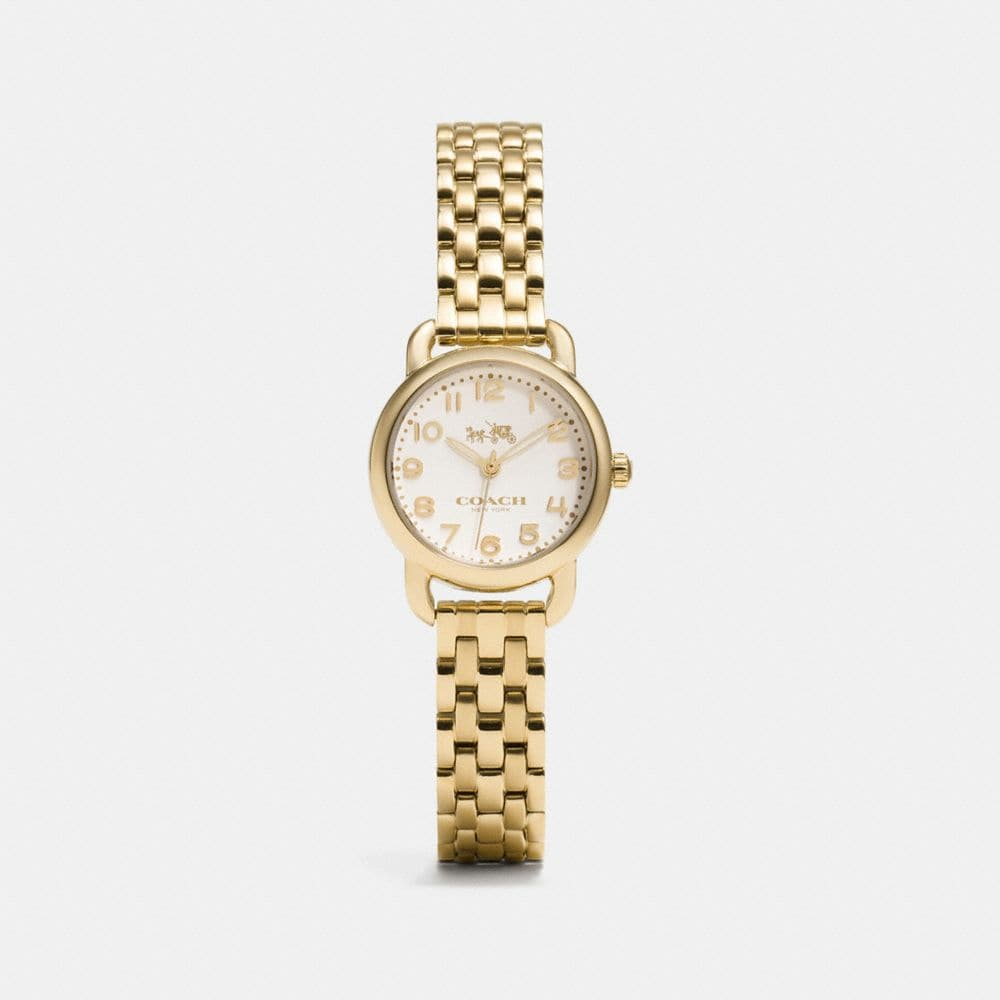 DELANCEY 23MM SMALL GOLD PLATED BRACELET WATCH