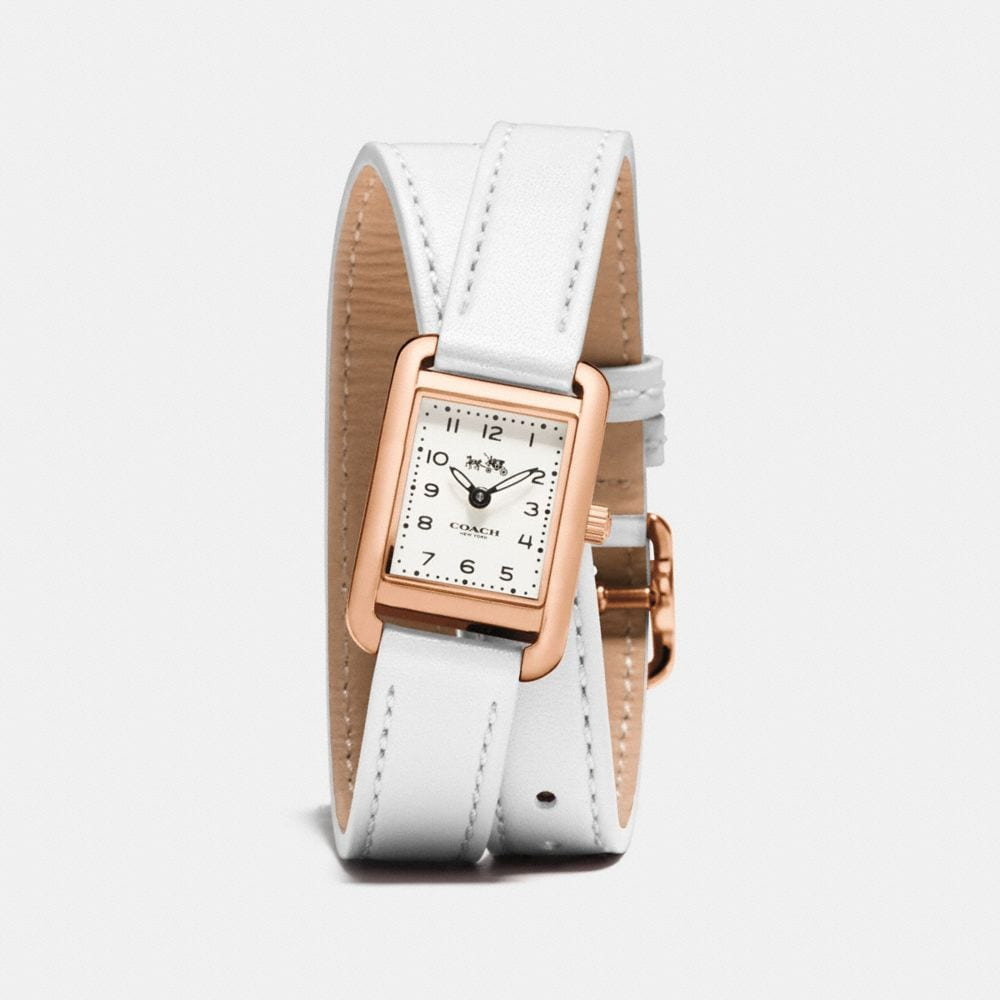 THOMPSON ROSE GOLD PLATED DOUBLE WRAP WATCH