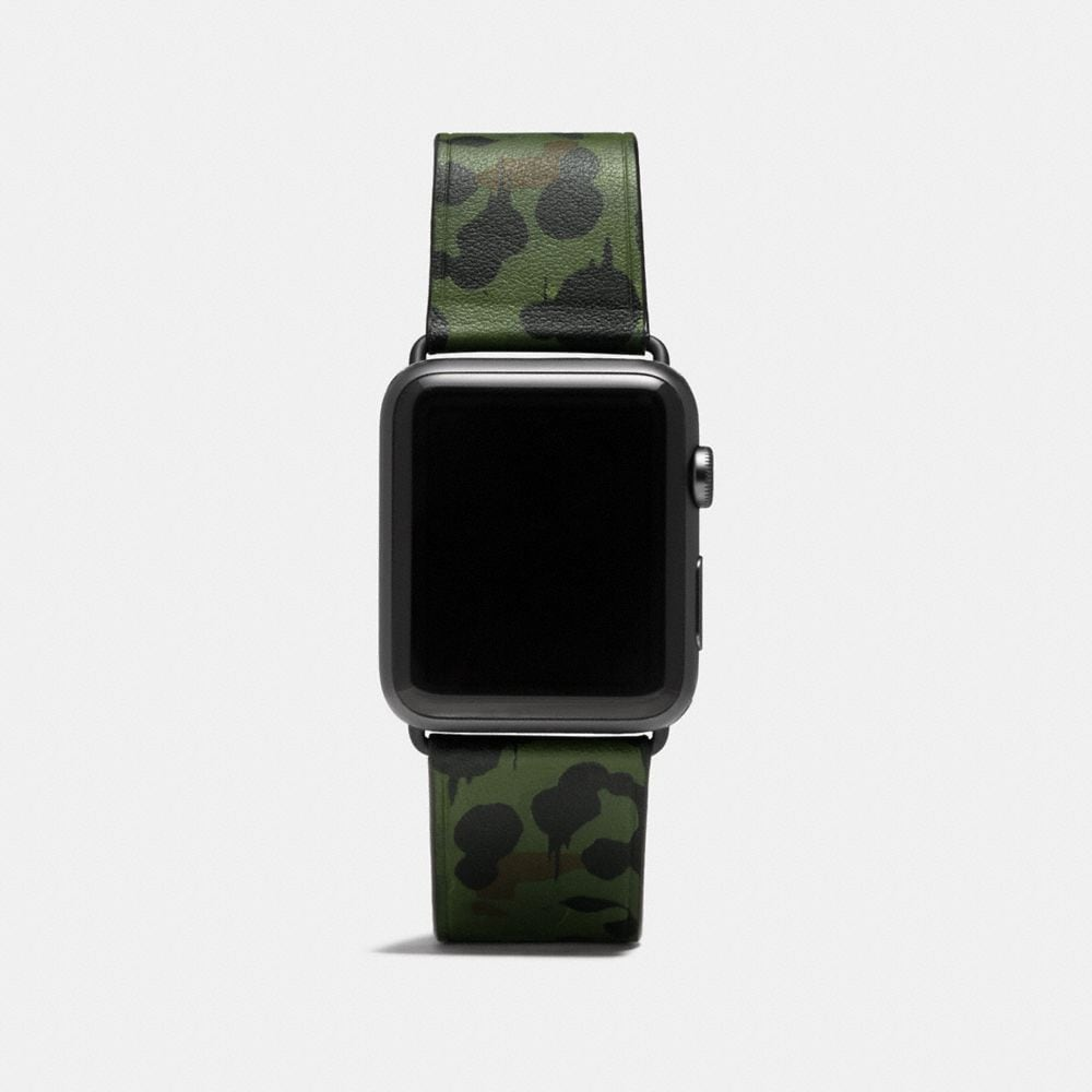 BRACELET APPLE WATCH® EN CUIR AVEC MOTIF WILD BEAST