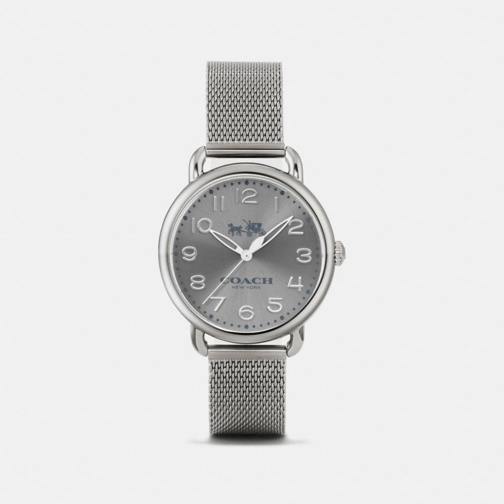 DELANCEY IONIZED PLATED SUNRAY DIAL MESH BRACELET