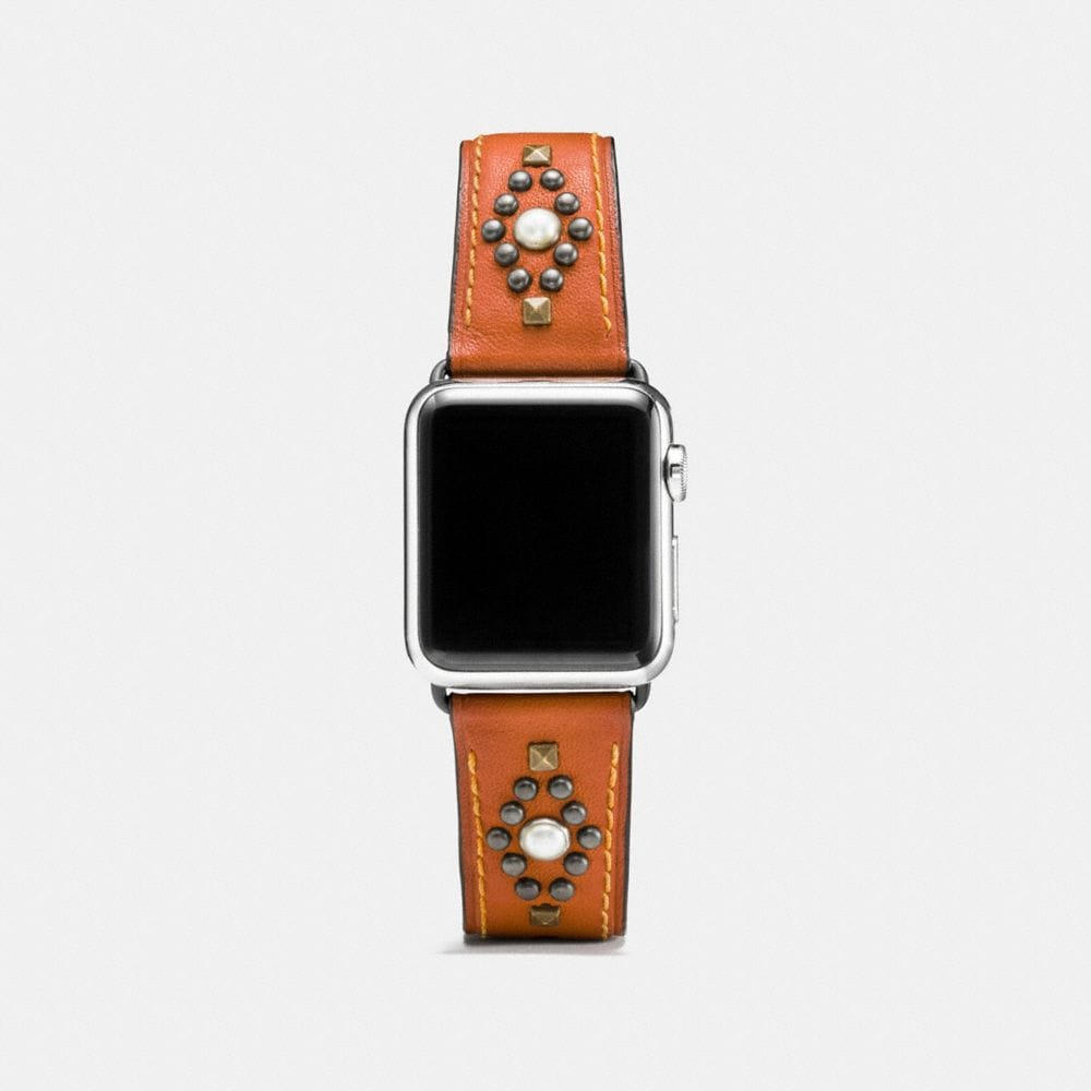 APPLE WATCH® STUDS LEATHER WATCH STRAP
