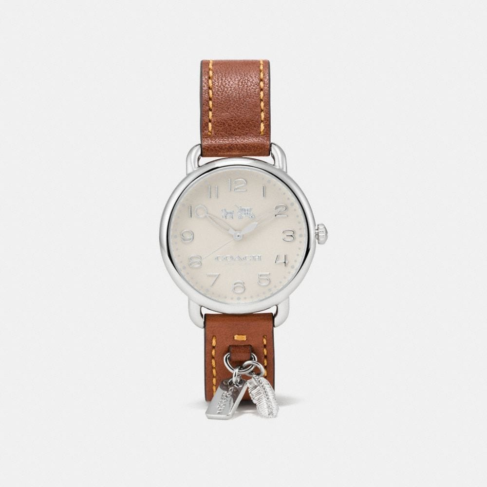 DELANCEY WATCH WITH FEATHER CHARM, 36MM